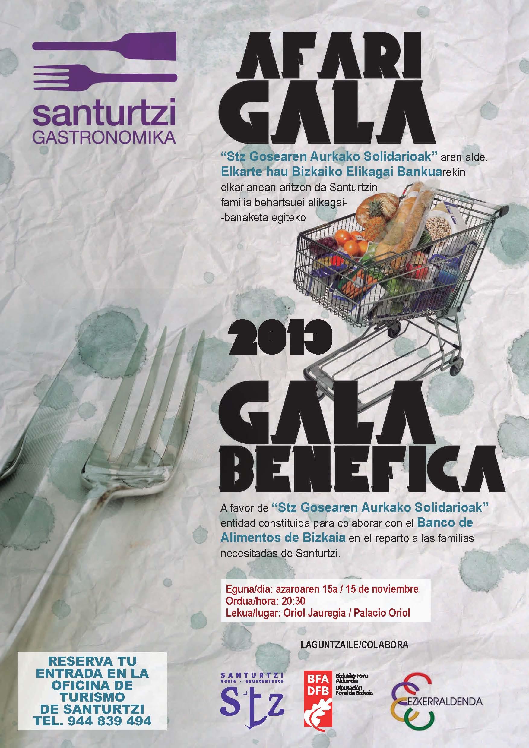 """Santurtzi Gastronomika presenta la Gala Benéfica a favor de """"Stz Gosearen Aurkako Solidarioak"""""""